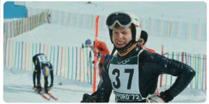 """1970-79 Thanks to the results of the """"valanga azzurra"""" in the Alpine Skiing World Cup competitions, Salice brand is always on the podium with its champions and testimonials Thoeni, Gros, De Chiesa and Stricker."""